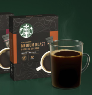 STARBUCKS 星巴克 咖啡家享浓醇美式咖啡粉 10袋*2盒