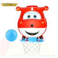 超级飞侠儿童篮球架悬挂篮板 免打孔儿童小篮球板 家用壁悬挂式篮框架宝宝皮球男孩女孩 小宝宝练习专用 *5件