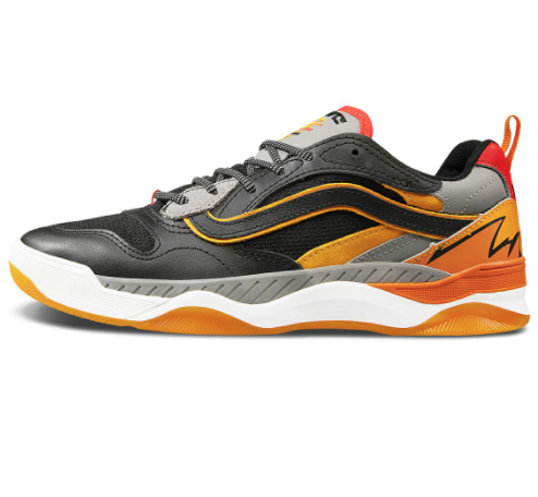 VANS 范斯 Windbreaker Brux WC 中性运动板鞋 VN0A4BH4WR0 黑色/橙色 37
