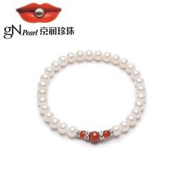 京润珍珠 淡水珍珠手链 5-6mm