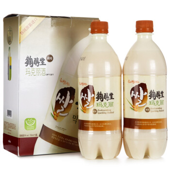 KOOKSOONDANG 麴醇堂 玛克丽米酒 原味 750ml*2瓶