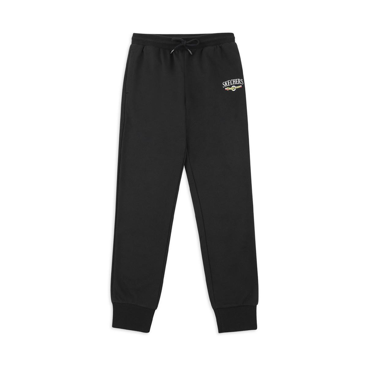 SKECHERS 斯凯奇 男士运动裤 SMAMS19D026-BLAK 黑色 M