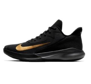 NIKE 耐克 Precision 4 男士篮球鞋 CK1069-002 黑金 43