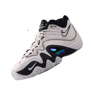 NIKE 耐克  Zoom Uptempo V 男士篮球鞋 366570-141 白黑/绿 40.5