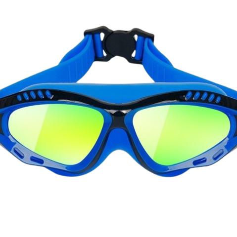 LI-NING 李宁 高清防雾防水大框视野电镀泳镜