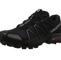 salomon 萨洛蒙 SALOMON 萨洛蒙 Speedcross 4 男士越野跑鞋 L38313000 黑色/黑色/黑色金属 40