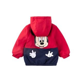 DisneyBaby 迪士尼宝宝 男童休闲连帽加绒外套