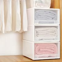 收纳箱抽屉式塑料透明储物柜子衣服衣物整理箱神器衣柜内衣收纳盒