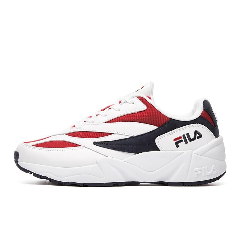 FILA 斐乐 Venom 94 男士跑鞋 F12M911110F 白/红-WR 41