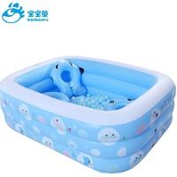 婴儿童充气游泳池家庭宝宝小孩加厚家用游泳桶折叠海洋球池玩具