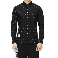 :CHOCOOLATE B1XSTC8034X66BKX 男士纯棉长袖衬衫
