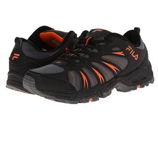 FILA 斐乐 Trailbuster 2 男士越野跑鞋 黑色/城堡石/鲜橙色 39