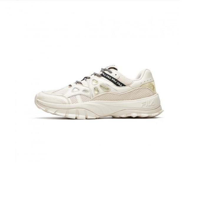 FILA 斐乐 HERITAGE-FHT系列 HIT-N-RUN 男士跑鞋 F12M931107FBF 浅卡其色 42