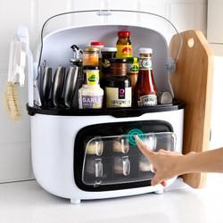 【双防尘盖】调料盒厨房置物架多功能佐料盒塑料调味盒六格抽屉式