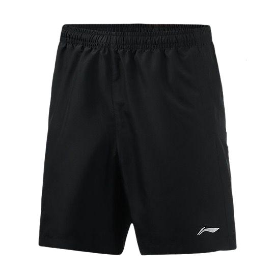 LI-NING 李宁 男士运动裤 AKSN183-4 标准黑/反光 S