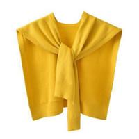 [ZH服饰] 女外搭洋气秋冬新款小披肩 黄色