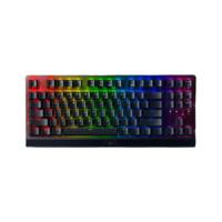 RAZER 雷蛇 黑寡妇蜘蛛 V3 竞技版  RGB机械键盘 87键 绿轴 黑色