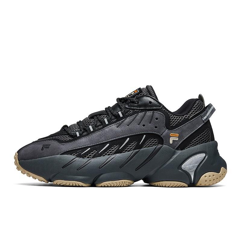 FILA 斐乐 FUSION系列 中性跑鞋 T12M011108F-B-DB 深灰/黑色 42