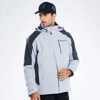 KingCamp冲锋衣男女2020新款三合一可拆卸两件套防风保暖登山服