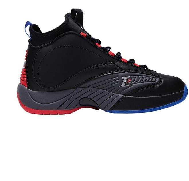Reebok 锐步 Answer 4.5 男士篮球鞋 CN5841 黑色/灰色/红色 44