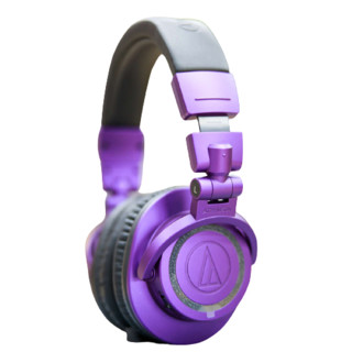 audio-technica 铁三角 ATH-M50xBT PB 头戴式蓝牙耳机 紫色 限量版