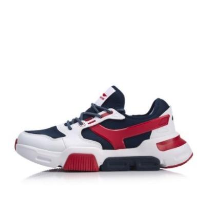 LI-NING 李宁 男士休闲运动鞋 AGCN221-1 标准白/外太空蓝 40