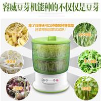 豆芽机全自动家用 四层大容量商用培育机发芽机 四季可用 绿色-双层