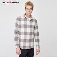 20日0点、必买年货:JackJones 杰克琼斯 219405505 男士格子纯棉翻领衬衫