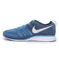 NIKE 耐克 Flyknit Trainer 男士跑鞋 532984-414 蓝色 37.5