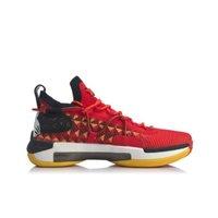 LI-NING 李宁 男士篮球鞋 ABAQ001-6 焰红色/标准白/标准黑 39