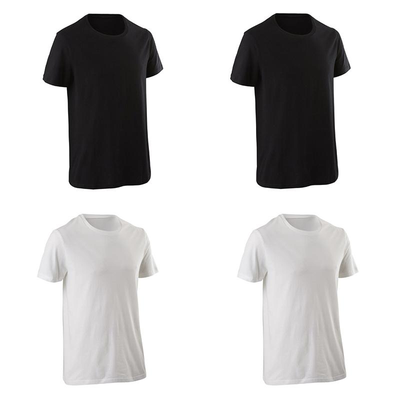 DECATHLON 迪卡侬 男士运动系列 GYPML 运动套装 四件套 8746 黑色/白色 XS