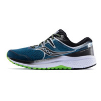 Saucony索康尼2020新品高端跑鞋OMNI全擎ISO2稳定支撑男跑步鞋S20511 深兰银-1 42