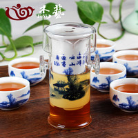 泡茶壶 红茶茶具套装 玻璃陶瓷过滤双耳泡茶器功夫茶壶花茶冲茶器