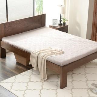 YESWOOD 源氏木语 B3701 现代简约白橡木床 1.0m