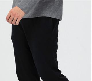 DECATHLON 迪卡侬 运动生活系列 JERSEY PANT 男士运动裤 8240871 黑色 S