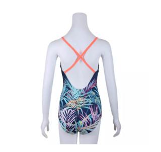 DECATHLON 迪卡侬 Low Cut Riana Jung Blue 女士连体泳衣 300542-8547729 蓝色