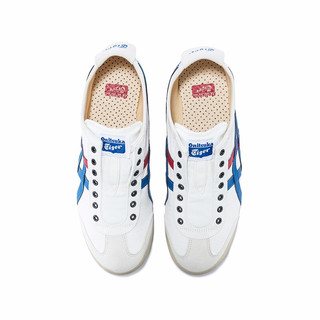 Onitsuka Tiger 鬼塚虎 MEXICO 66 SLIP-ON系列 中性休闲运动鞋 D3K0N-0143 白色/湖蓝色 40.5