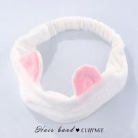 翠津閣 CJG0431 女士束發帶 兔耳朵白色款
