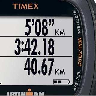 TIMEX 天美时 Ironman Run Trainer 女士心率表 黑色/橙色