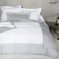 法国 BLANC DES VOSGES缎纹棉安布瓦斯系列四件套(礼盒装) 银灰 M: 220x240cm