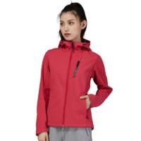 TOREAD 探路者 TREKKINC 徒步系列 女子软壳衣  TAEH92287 胭脂红 XS 加绒款