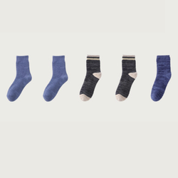 danjiya 丹吉娅  A-9.27-1 男女款中筒毛巾袜 5双装