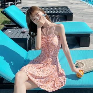 YUKE 羽克 女士泳衣 20205005-256769 橘色雏菊  XL