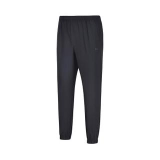 361度男装2018新款舒适透气轻薄运动九分裤651829702-1基础黑  L
