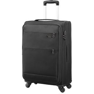 美旅拉杆箱  行李箱经典简约商务防泼水万向轮密码锁托运旅行箱 软箱24英寸大容量可扩展26B黑色