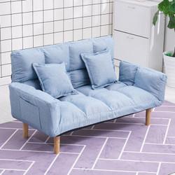 零梦 简易折叠沙发床 雾霾蓝色 舒适款 126*60cm