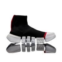 LI-NING 李宁 韦德系列 男士篮球鞋 ABCM113-1 标准黑/标准白/公牛红 42