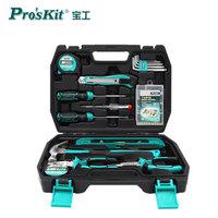 宝工(Pro'sKit)16件套家用工具箱套装 多功能手动工具箱 组套工具 五金工具组合套装PK-2057