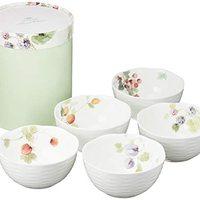 中亚Prime会员 : NARUMI 鸣海制陶 Lucy's Garden系列 骨瓷碗 11cm*5只装