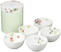 NARUMI 鸣海制陶 Lucy's Garden系列 骨瓷碗 11cm*5只装